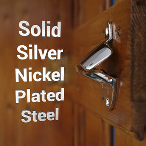 Silver Wall Mount Bottle Opener (2 Pack)