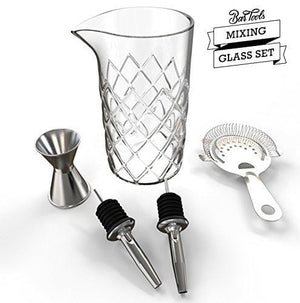 Professional Cocktail Mixing Glass Set (18 Ounce)