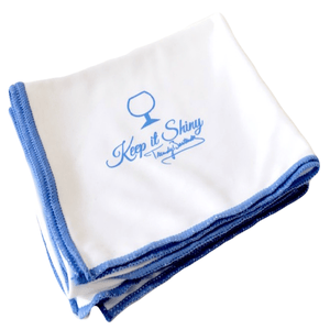 Mega Sized Microfiber Glass Polishing Cloth – 30x30 inch (White)