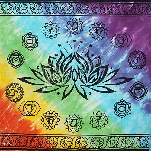 "36"" x 36"" Chakra Lotus Altar cloth 