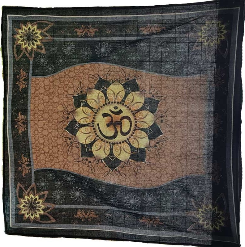 "36"" x 36"" Om Lotus Altar cloth 