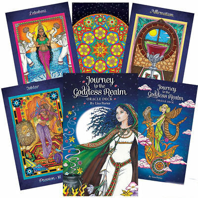 Journey to the Goddess Realm Oracle Cards + Guide book | Cartomancy | Tarot Deck | Divination | Arcana