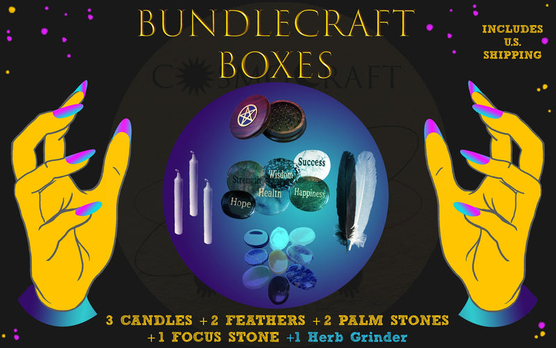 Herb Grinder BUNDLE CRAFT Box | Baby Witch Set | Spiritual Goodies | Starter Crystal Mystery |Random | Variety Pack | occult | esoteric gift