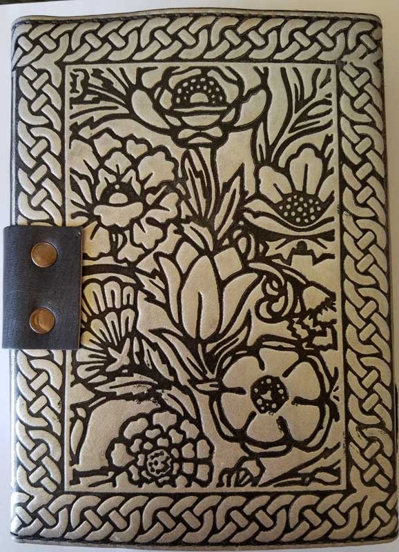 "5"" X 7"" silver Owl Altar Journal w/ latch 