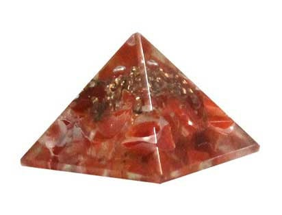 25-30mm Orgone Carnelian pyramid Crystal | ethically sourced | Generator | healing Altar Piece | Natural Gemstone | Energy | Pagan | Occult