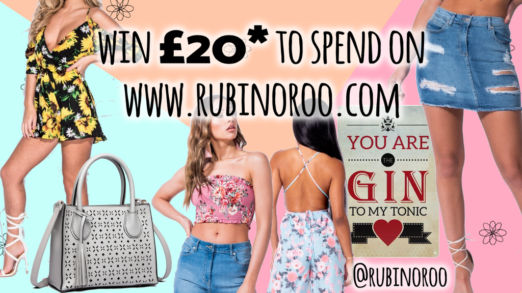 RUBINO ROO | Social Media Giveaway | Win £20* To Spend Online