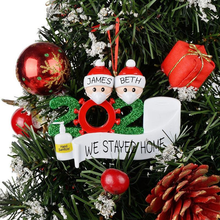 Load image into Gallery viewer, Personalised 2020 Hanging Christmas Decoration Bauble