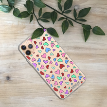 Load image into Gallery viewer, Hearts Print Phone Case