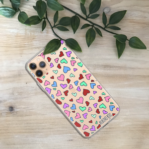 Hearts Print Phone Case