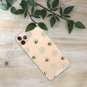 Bee and Daisy Print Phone Case