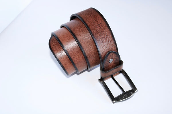 "Distressed 1.5"" Full Leather Belt"