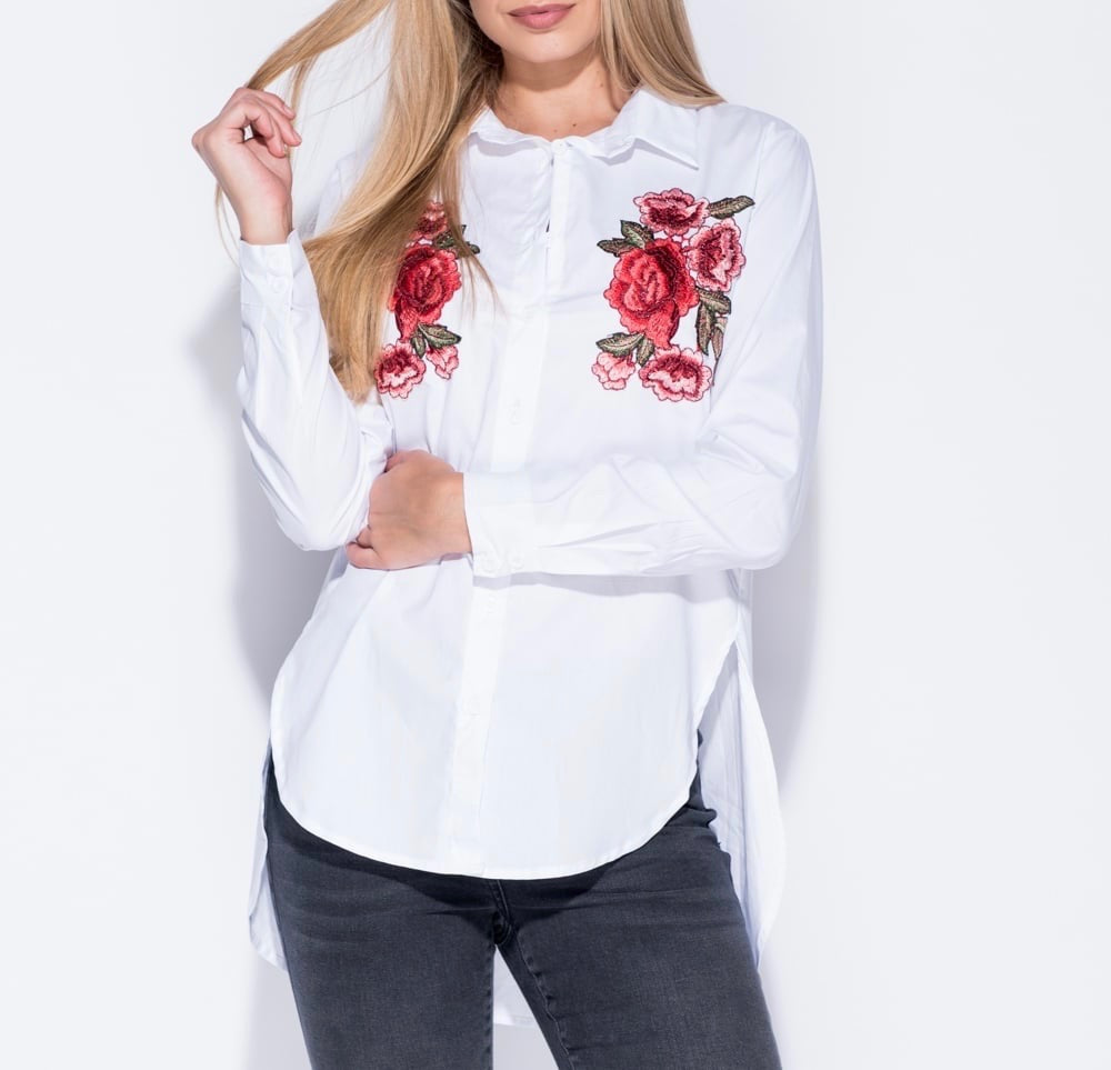 Embroidered Button Shirt