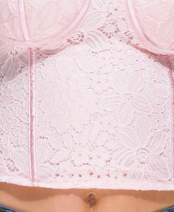 Lace Harness Bralet Top
