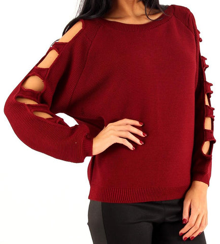 Slashed Sleeve Jumper