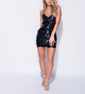 Multi Colour Large Sequin Bodycon Dress