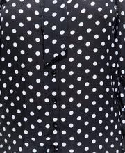 Load image into Gallery viewer, Polka Dot Pussy Bow Blouse