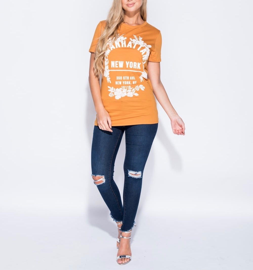 Manhattan Print T Shirt