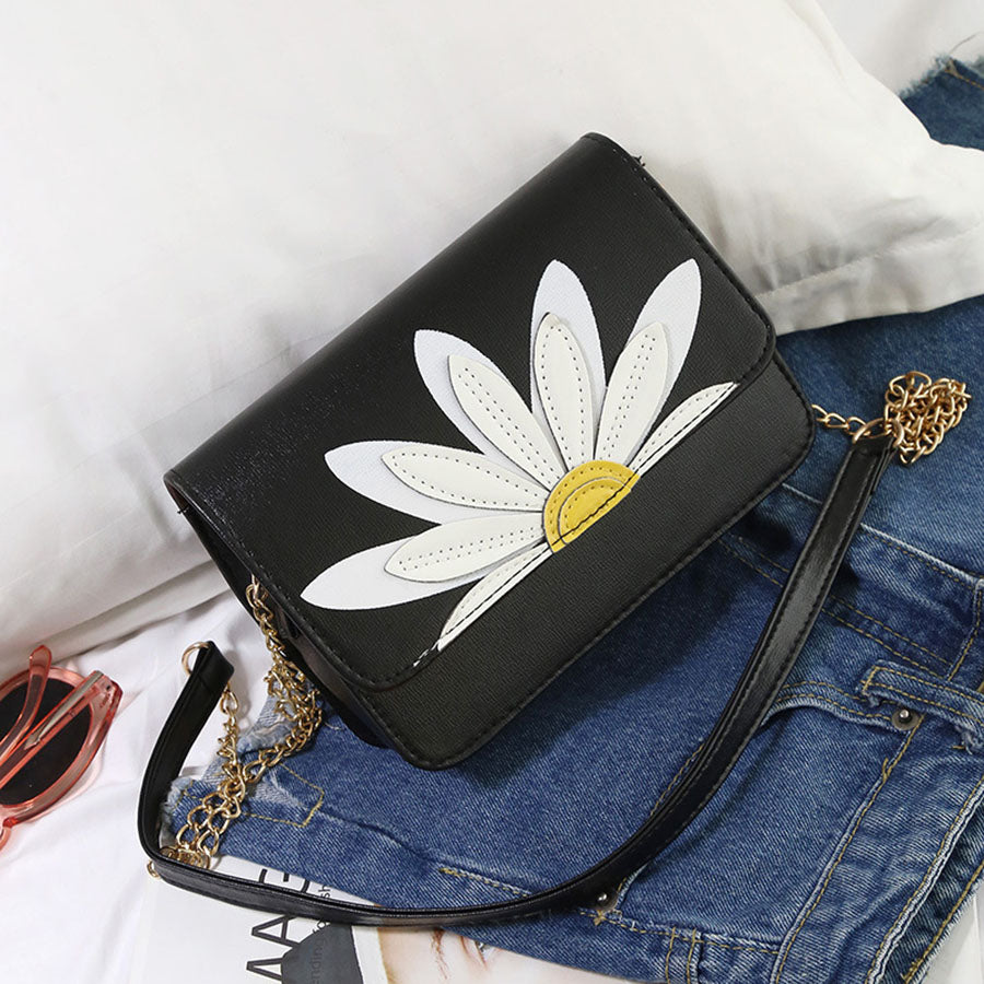 Daisy PU Leather Crossbody Bag
