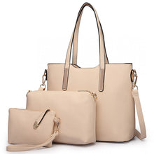 Load image into Gallery viewer, Three Piece Tote, Shoulder and Clutch Bag Set
