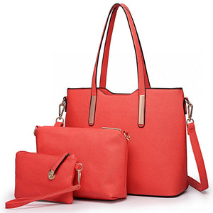 Three Piece Tote, Shoulder and Clutch Bag Set