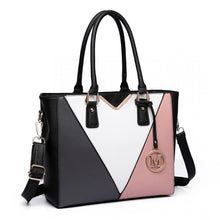 Load image into Gallery viewer, Leather Look V-Shape Multi-Colour Tote Bag