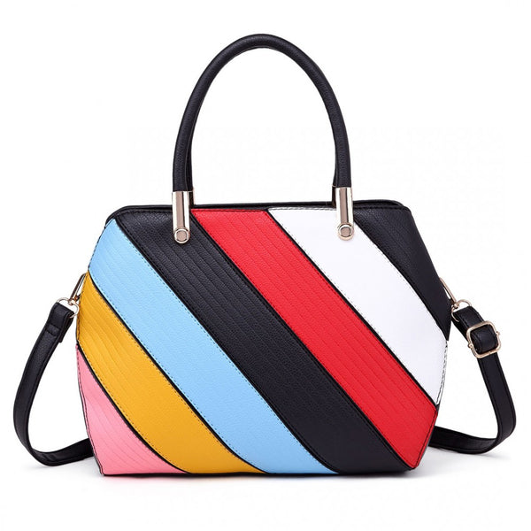 Striped Multi Colour Handbag
