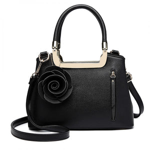 Formal PU Leather, Rose Charm Handbag