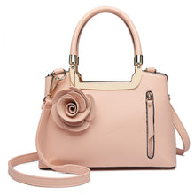 Load image into Gallery viewer, Formal PU Leather, Rose Charm Handbag