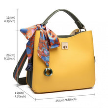 Load image into Gallery viewer, Tote Shoulder Bag with Silk Scarf Trimming