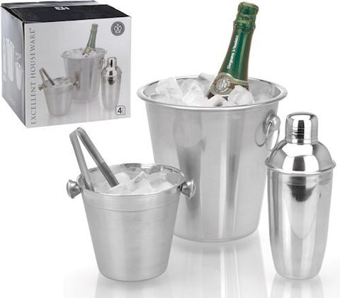Stainless Steel 4 Piece Bar Set