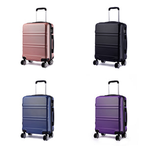 "Hard Shell 20"" Cabin Suitcase, 8 Wheel Spinner"
