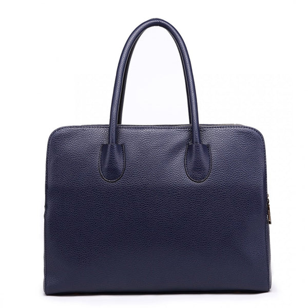 Textured PU Leather Classic Tote Shoulder Bag
