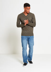 Basic V-Neck Knitted Jumper