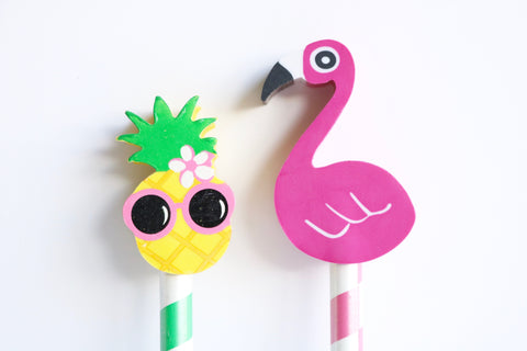 Flamingo or Pineapple Eraser Pencil
