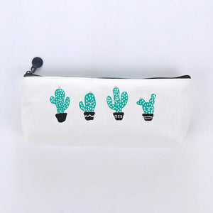 Cactus Print Pencil Case