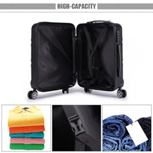 "Load image into Gallery viewer, Hard Shell 20"" Cabin Suitcase, 8 Wheel Spinner"