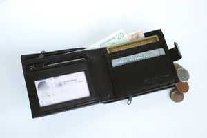 Black Sheep Nappa Leather RFID Protected Wallet, 4 Card Slots
