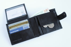 Black Sheep Nappa Leather RFID Protected Wallet, 8 Card Slots