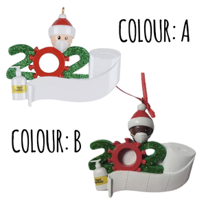 Personalised 2020 Hanging Christmas Decoration Bauble