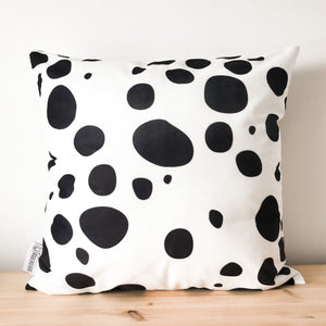Dalmatian Print Black & White Spot Cushion Cover