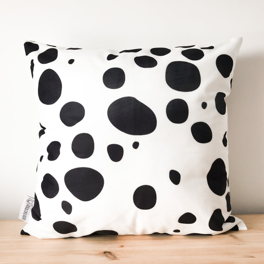 Dalmatian Large Print Black & White Spot Cushion Cover
