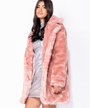 Load image into Gallery viewer, Pink Faux Fur Coat