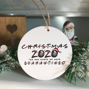 Funny Quarantined Hanging Christmas Decoration