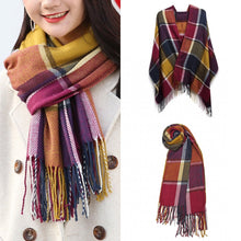 Load image into Gallery viewer, Large Lattice Tassel Scarf, Multicolour