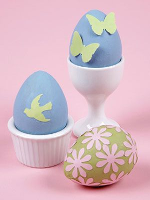 Punched Paper Egg Decor
