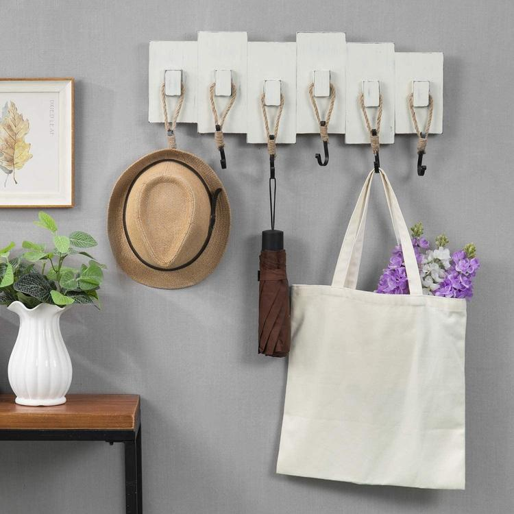 Rack and hook ideas for entryway organization