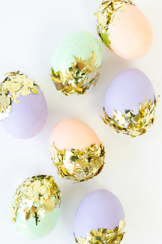 Egg Decor with Konfetti