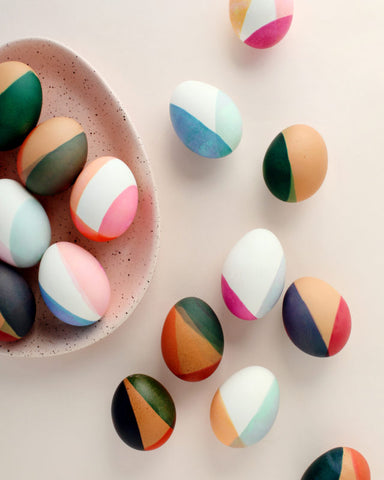 Color Block Egg Decor Idea