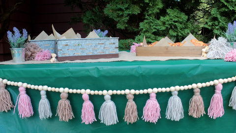 Girls' Birthday Party Setup with Baskets