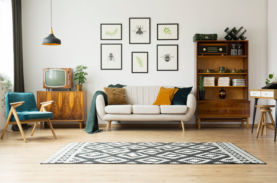 Living Room Design with Rug